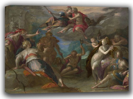 Aachen, Hans von: Von Aachen The Amazement of the Gods. Fine Art Canvas. Sizes: A4/A3/A2/A1 (002047)